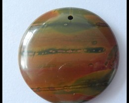 73.5Ct Round Bi Color Picasso Jasper Bead,Natural