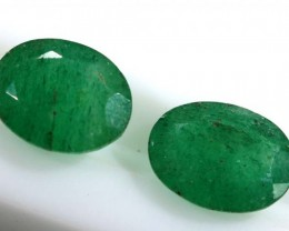 3.40 CTS AVENTURINE FACETED EMERALD GREEN PARCEL (2PCS) RNG-351