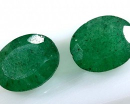 3.45 CTS AVENTURINE FACETED EMERALD GREEN PARCEL (2PCS) RNG-353
