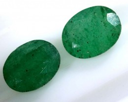 3.35 CTS AVENTURINE FACETED EMERALD GREEN PARCEL (2PCS) RNG-355