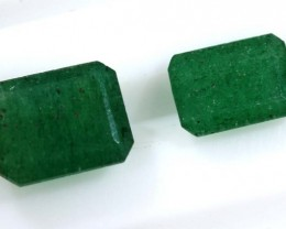 4.20 CTS AVENTURINE FACETED EMERALD GREEN PARCEL (2PCS) RNG-358
