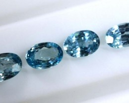 3.15 CTS BLUE FACETED ZIRCON CAMBODIA PARCEL (4PCS) RNG-361
