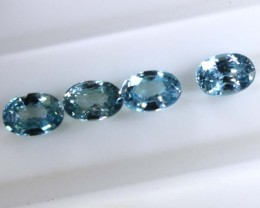 3.30 CTS BLUE FACETED ZIRCON CAMBODIA PARCEL (4PCS) RNG-362