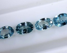 2.90 CTS BLUE FACETED ZIRCON CAMBODIA PARCEL (4PCS) RNG-366