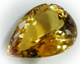 34.50ct Top Citrine - Superb Jewellery Grade Gem - Beautiful Color