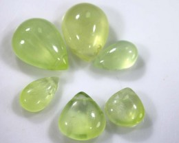 13.70 CTS PREHNITE BEADS PARCEL ADG-1444