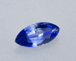 0.97ct Banded Blue Ceylon Sapphire Marquise Cut