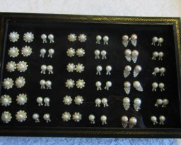 Parcel deal tray 36 mixed Pearl Earrings P 120