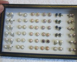 Xmas Deal -Parcel deal tray 36 mixed Pearl Earrings P 1