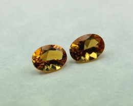 CITRINE PAIR OVAL SHAPED PAIR