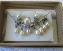 Matching set Fresh water pearls PPP 127
