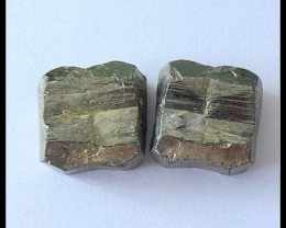 78.5Cts Natural Pyrite Cabochon Pair