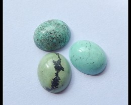 3 PCS Turquoise Cabochons,9.5cts