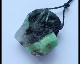 46.5Ct Rough Emerald Gemstone Bead, Natural