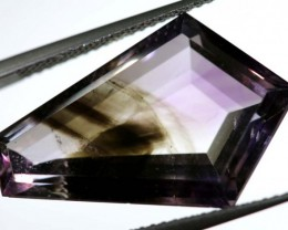 12.75 CTS UNTREATED AMETHYST BI-COLOR FACETED RNG-375