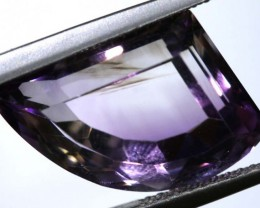 7.60 CTS UNTREATED AMETHYST BI-COLOR FACETED RNG-379
