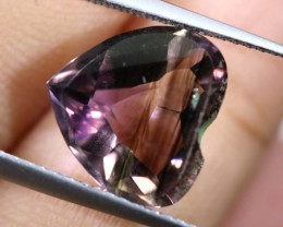 3.65CTS UNTREATED AMETHYST BI-COLOR FACETED RNG-382