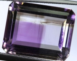 5.5 CTS UNTREATED AMETHYST BI-COLOR FACETED RNG-386