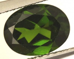 1.40 CTS FACETED CHROME DIOPSIDE STONE ANGC-537