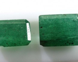 3.85 CTS AVENTURINE FACETED EMERALD GREEN PARCEL (2PCS) RNG-389