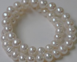8.5mm round graded high luster  pearl strand 40cm length   PPP146