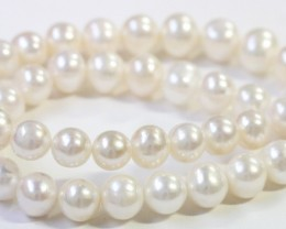 10 mm round graded high luster  pearl strand 40cm length   PPP157