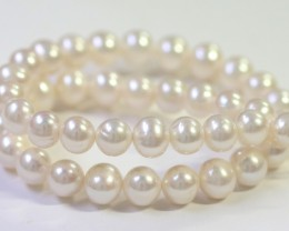 10 mm round graded high luster  pearl strand 40cm length   PPP154