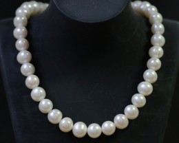 10 mm round graded high luster  pearl strand 40cm length   PPP153