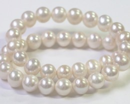 10 mm round graded high luster  pearl strand 40cm length   PPP149