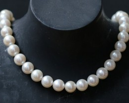 9 mm round Top graded high luster  pearl strand 40cm length   PPP174