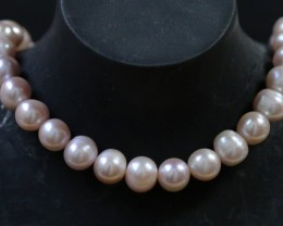 10 mm Oval Champagne strand Pearls PPP178