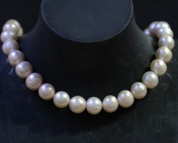 10 mm Oval Champagne strand Pearls PPP182