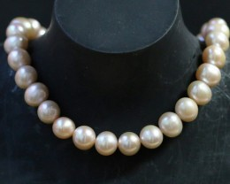 10 mm Oval Champagne strand Pearls PPP185
