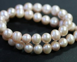 10 mm Oval Champagne strand Pearls PPP186