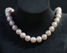 10 mm Oval Champagne strand Pearls PPP187
