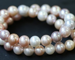 11mm  Palette of Colours natural  strand Pearls PPP188
