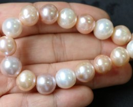 11mm  Palette of Colours natural  strand Pearls PPP195