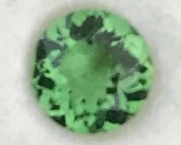 CERTIFIED .63ct Stunning Chrome Green Tourmaline, Near Flawless VVS A538