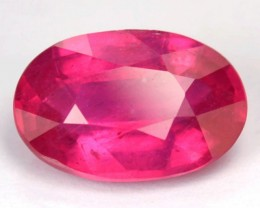 Certified 3.59 Cts Natural Pinkish Red Ruby Top Luster Oval Gemstone