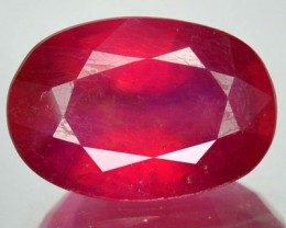 5.70 Cts Nice Quality Transparent Red Ruby Oval Faceted Gem