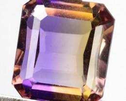 12.28 Cts Natural Bi Color Ametrine Ocatgon Cut Bolivian Gem NR