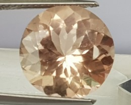 6.50cts Peach Morgonite,  100% Untreated,  Eye Clean