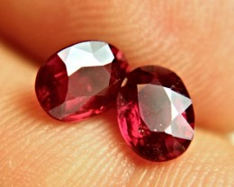 3.25 Tcw. Matched Rubies - Gorgeous