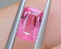 1.11cts,  Bubblegum Pink Sapphire  Heat Only, Certified