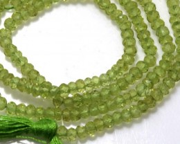 25.10 CTS PERIDOT BEADS FACETED NP-1751