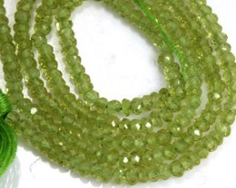 22.20 CTS PERIDOT BEADS FACETED NP-1753