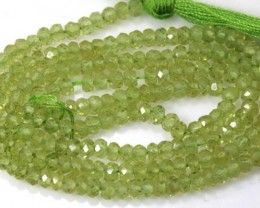 29.10 CTS PERIDOT BEADS FACETED NP-1760
