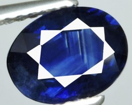 CERTIFIED-1.60 CTS FANTASTIC OVAL HEAT EXCELLENT CEYLON BLUE SAPPHIRE $1200