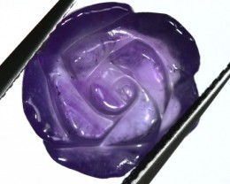 AMETHYST FLOWER CARVING  7.25 CTS LT-655