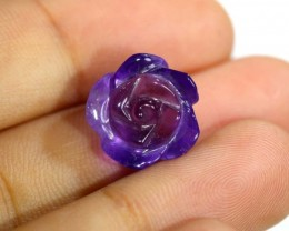 AMETHYST FLOWER CARVING  7.50 CTS LT-672